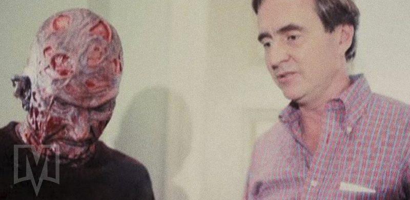 Robert Englund e Wes Craven em set de filmagens
