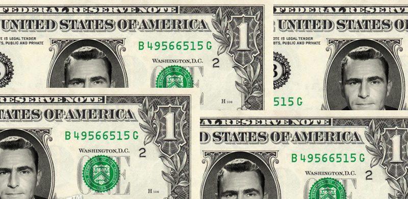 Nota de dinheiro de Rod Serling