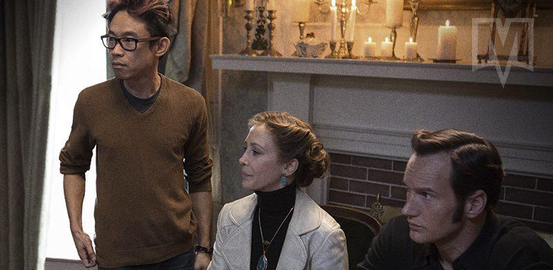 Set de Invocação do Mal com James Wan e o casal de protagonistas