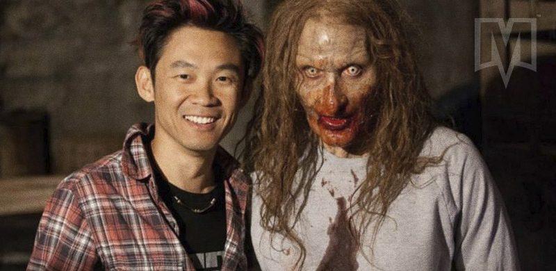 James Wan e um amigo encapetado no set de Invocação do Mal
