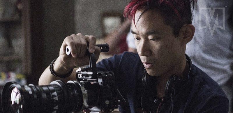 James Wan em set de filmagem