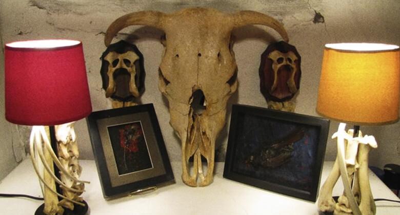 William Wilson, artista colecionador de ossos