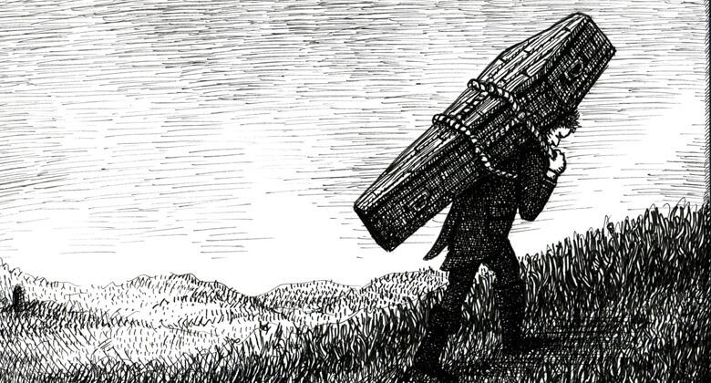 Ilustração de Landis Blair para a revista New Escapologist