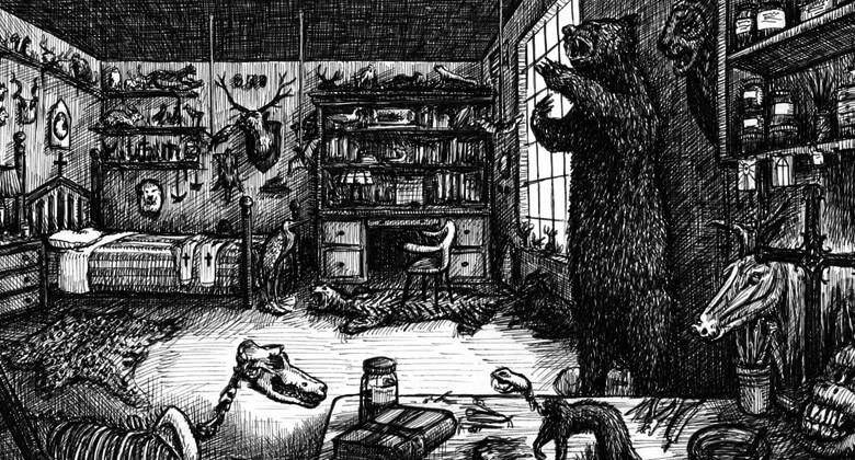 A Casa do Naturalista, ilustração de Landis Blair