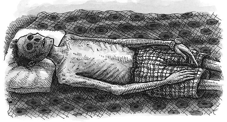 Ilustração de Landis Blair para o livro Para Toda a Eternidade, de Caitlin Doughty