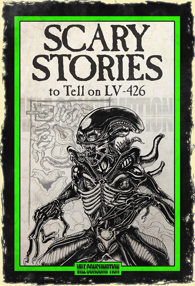 Vile Consumption recria capas de Scary Stories to Tell in the Dark