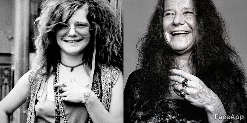 Clube dos 27 com FaceApp: Janis Joplin