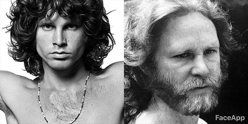 Clube dos 27 com FaceApp: Jim Morrison