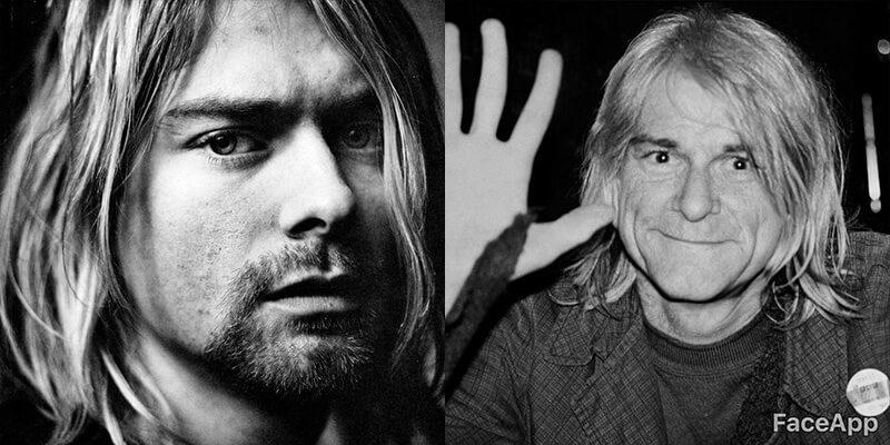 Clube dos 27 com FaceApp: Kurt Cobain