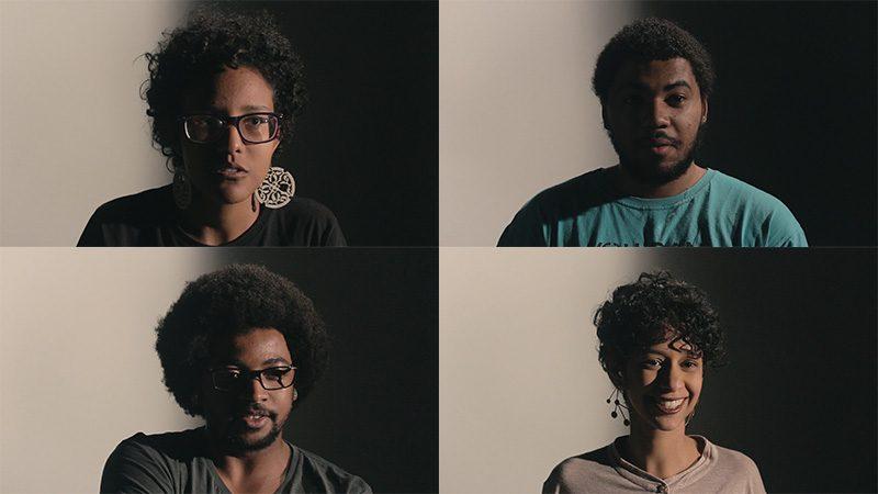 Participantes do curta Pele de Monstro, dirigido por Barbara Maria