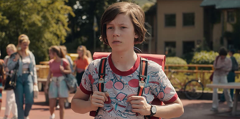 Mikkel em Dark, série macabra da Netflix