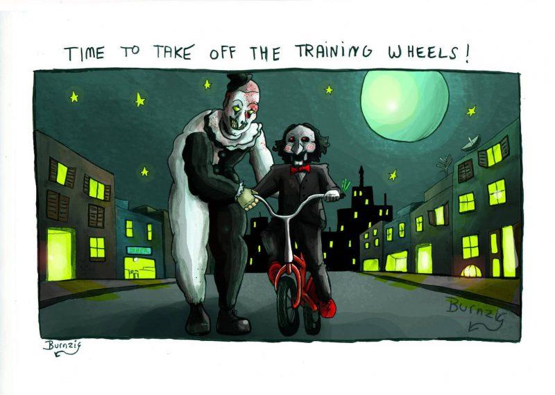 Art ensina Billy a andar em uma bicicleta sem rodinhas