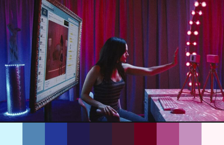 Cam: uso de roxo e rosa nos filmes de terror