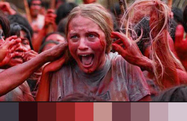 Canibais: uso do vermelho nos filmes de terror