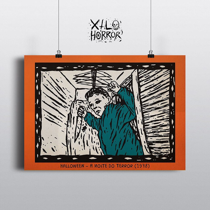 Xilogravuras do horror: Halloween, por Filipe Marcus